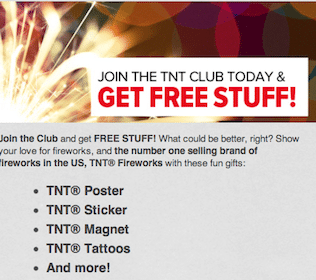 Poster, Stickers, Magnets + More from the TNT Fireworks Club