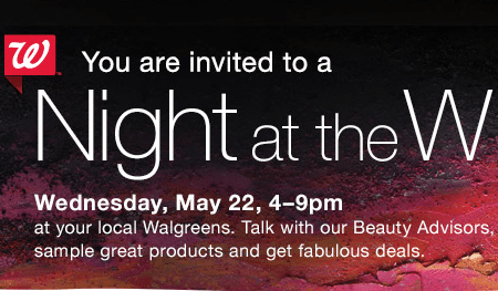 Walgreens Night at the W Event Today