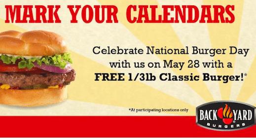 1/3 lb Burger at Back Yard Burgers on May 28