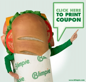 Blimpie Printable Coupon: FREE Sub with Purchase of Sub & Drink