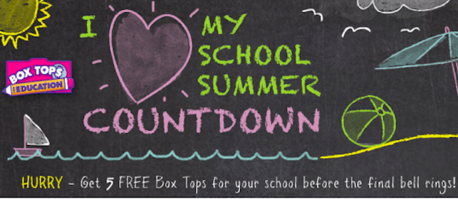 5 Box Tops for Your School Through May 26th