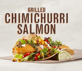 Grilled Chimichurri Salmon Taco at Rubio's