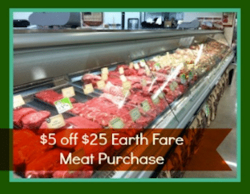 Earth Fare Coupon: Save $5 off $25 Meat Purchase