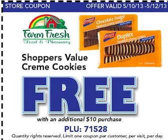 Cookies w/Purchase at Farm Fresh (Printable Coupon)