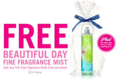 Bath & Body Works Ultimate Spring Gifts Event (May 4th) = FREE Fragrance Mist with Purchase