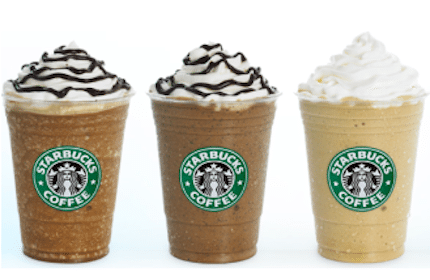 Half Price Frappuccino Blended Beverages at Starbucks
