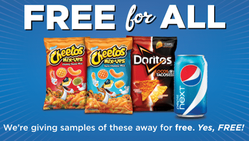Pepsi Next, Cheetos, & Doritos Samples at Kroger on Friday