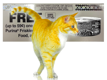Can of Friskies Cat Food (Mailed Coupon)