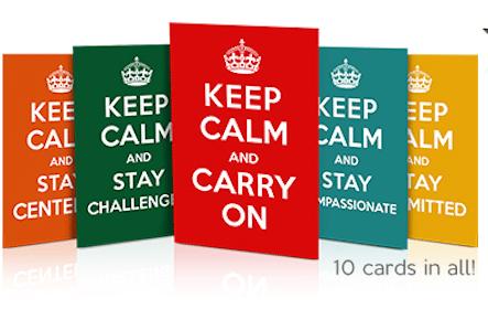 """10 """"Keep Calm"""" Reminder Cards"""