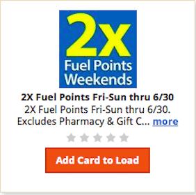 Kroger & Affiliates eCoupon: 2X Fuel Points
