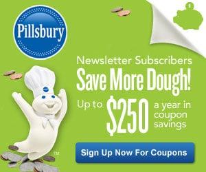 Pillsbury Coupons Savings Up To $250
