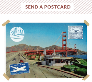 Mailed Postcard from Sunski Sunglasses