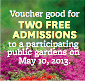 Public Garden Admission on May 10