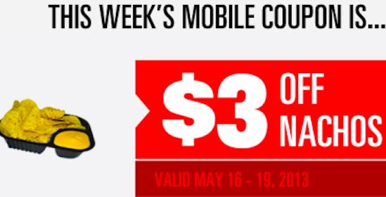 Regal Cinemas Coupon: $3 Off Nachos (Mobile Coupon)