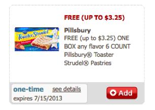 Safeway & Affiliates eCoupon: FREE Pillsbury Toaster Strudel Pastries