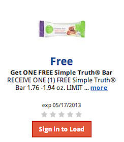 Simple Truth Bar Kroger eCoupon (Load Coupon Today!)
