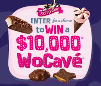 4,999 Instant Winners + $10,000 Grand Prize in the Skinny Cow WoCave Sweeps