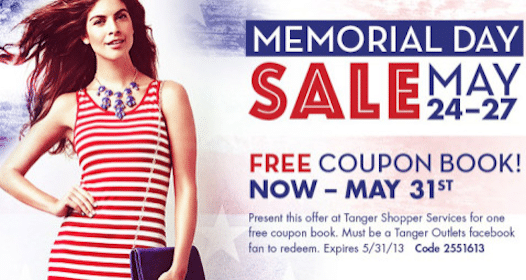 Tanger Outlets Coupon Booklet