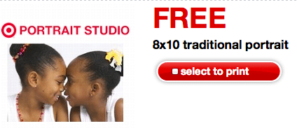 Target Coupon: FREE 8×10 Traditional Portrait (Print Today Only!)