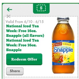 7-Eleven Mobile App Coupon: FREE 16 oz. Snapple