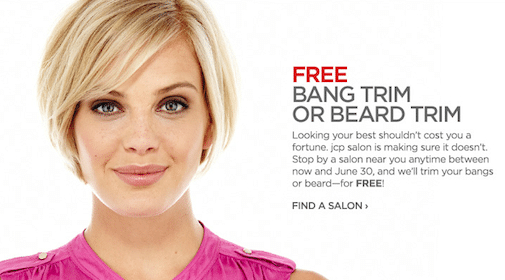 Bang Trim or Beard Trim at JCPenney Salons