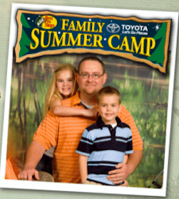 4×6 Photo with Dad at Bass Pro Shops