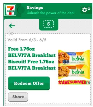 BELVITA Breakfast Biscuit at 7-Eleven (Mobile App Users)