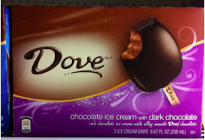 Dove Ice Cream Bars at Walmart