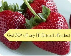 Strawberry Coupon: Save $0.50 off any Driscoll's Berry Product