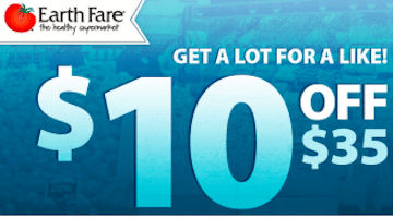 Earth Fare Coupon: Save $10 off $35 Purchase