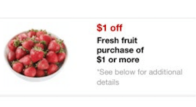 Target Mobile Coupon = FREE Peaches or Nectarines