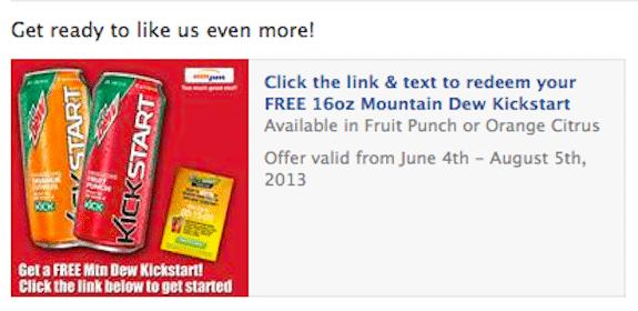 16oz Mountain Dew Kickstart at AMPM Stores