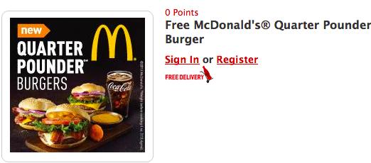 FREE McDonald's Quarter Pounder Coupon from My Coke Rewards