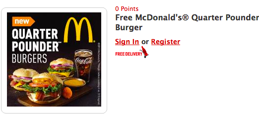 FREE McDonald's Quarter Pounder Coupon from My Coke Rewards