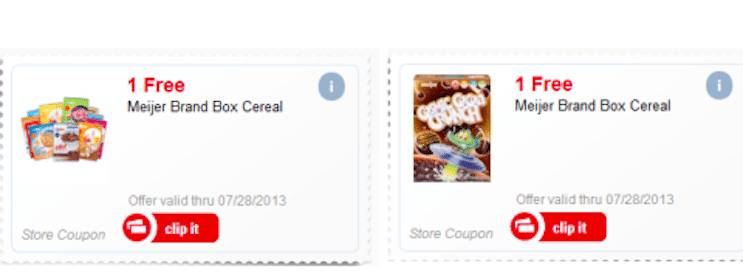 Possible Free Meijer Brand Box Cereal (Meijer mPerks Members)