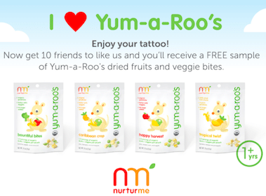 Roo Temporary Tattoo & Yum a Roo Sample (For Referring Friends)