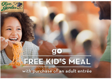 Kid's Meal at Olive Garden with Adult Dinner Entree Purchase