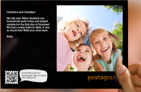 2 FREE Postagram Postcards