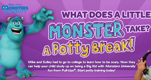 Potty Training Phone Call from Mike or Sully from Monsters University