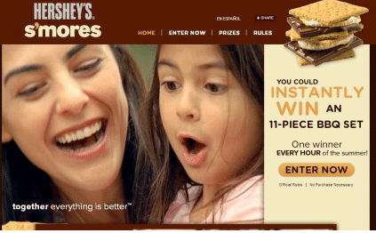 Hershey's Summer S'mores Grilling Instant Win Game