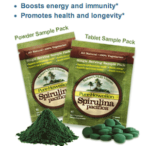 Hawaiian Spirulina Superfood samples