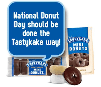 Tastykake Donut Coupon on Friday, June 7th
