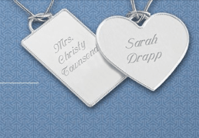 Engraved Key Chain Tags for Brides at Things Remembered June 22-23