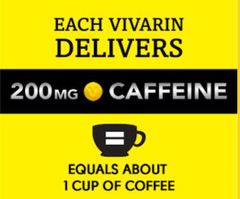 2 Vivarin Caffeine Energy Supplement Sample Packs