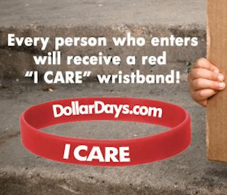 DollarDays.com I care wristband