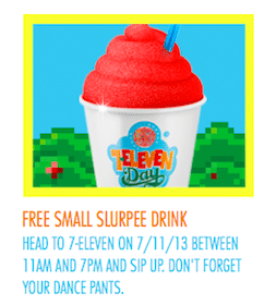 Slurpee Day 2013: FREE 7-Eleven Slurpees on 7/11 from 7 to 11