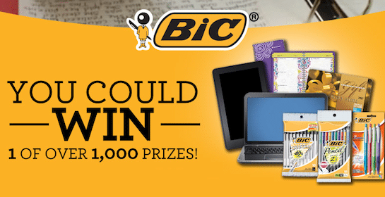 BIC Back to School Instant Win Game