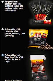 Folgers Black Silk Coffee Sample