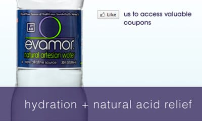 Evamor Natural Artesan Water Coupons [FACEBOOK]