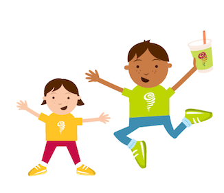 Smoothie for Kids at Jamba Juice on July 27